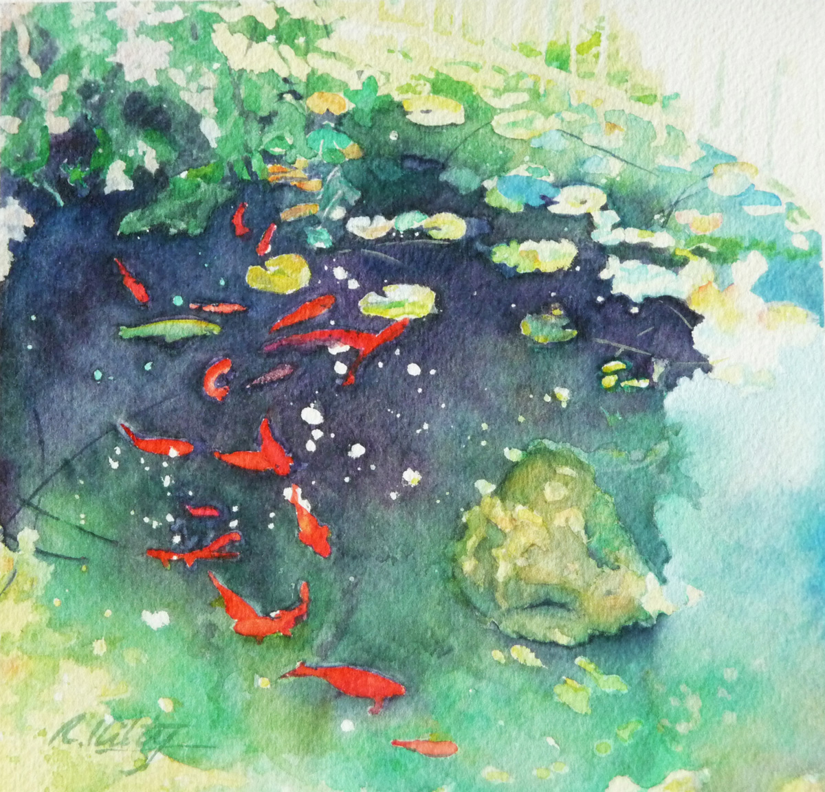 Koi Pond | Bobbi Kilty | Fine Artist