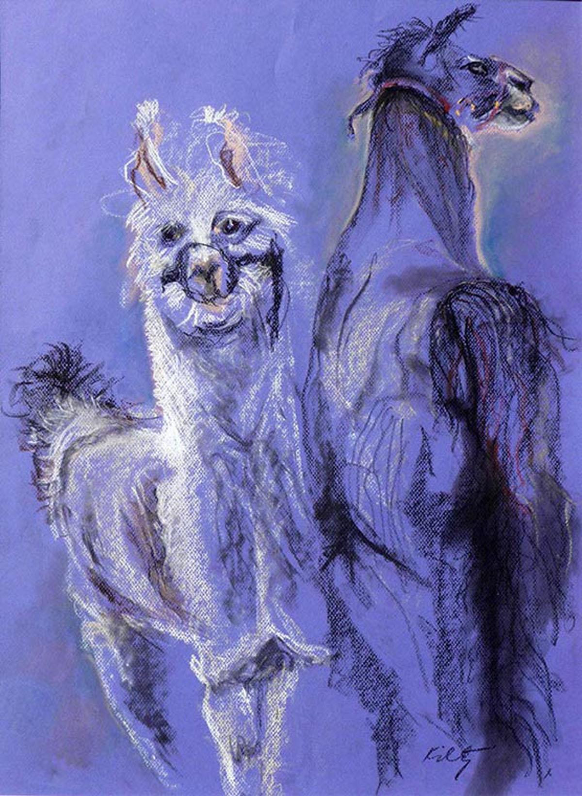 Mama Llama | Bobbi Kilty | Fine Artist