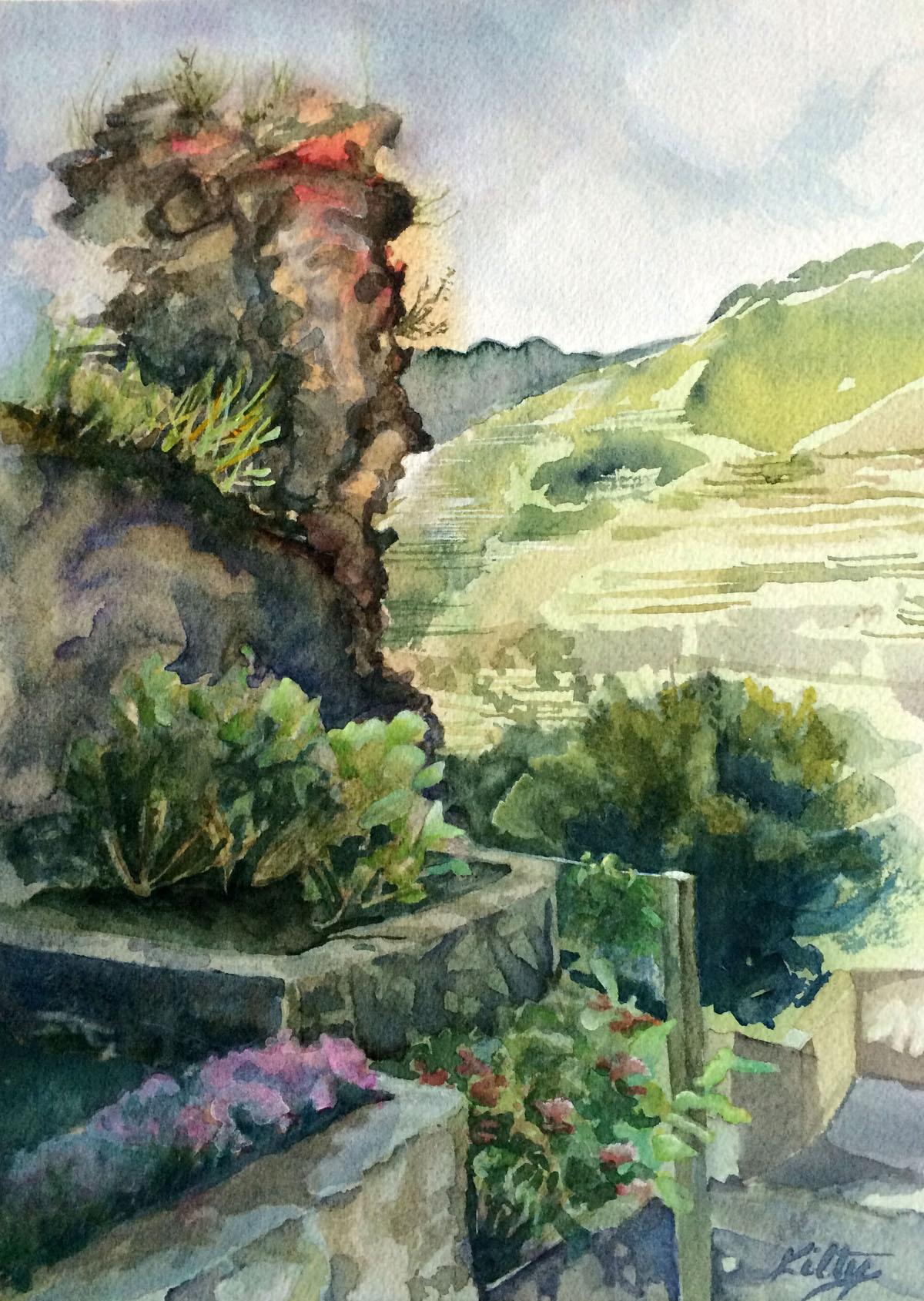 Old Roman Wall, Ravello | Bobbi Kilty | Fine Artist