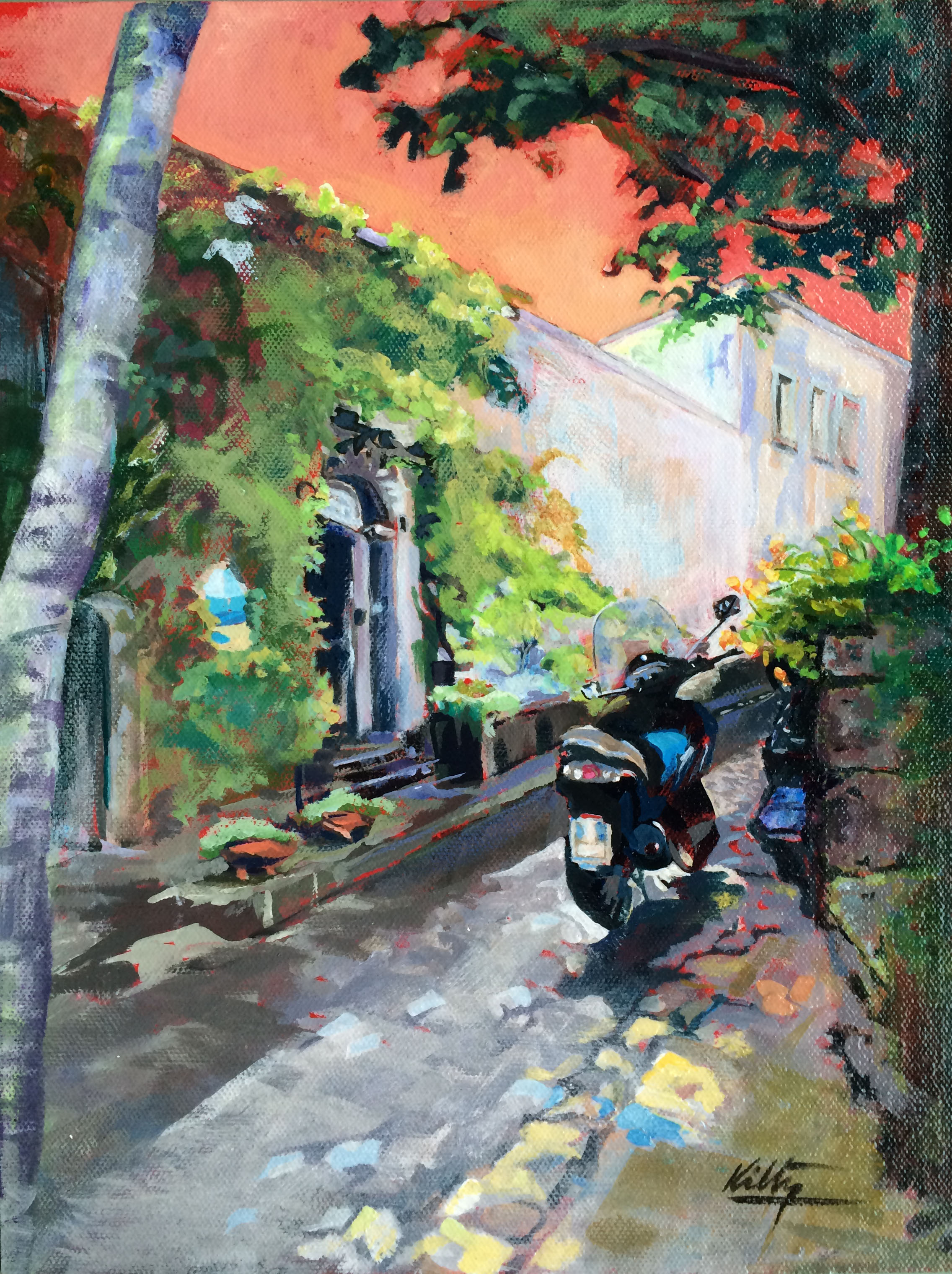 Ravello Scooter|Bobbi Kilty | Fine Artist
