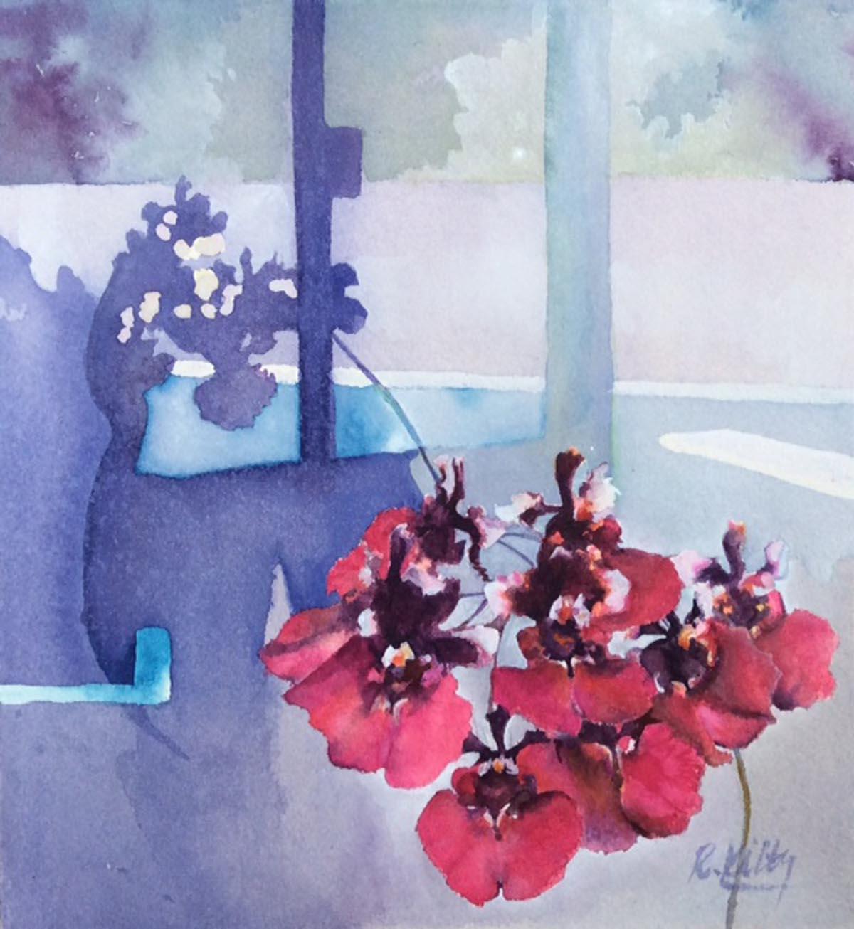Tolumnia Red Berry | Bobbi Kilty | Fine Artist