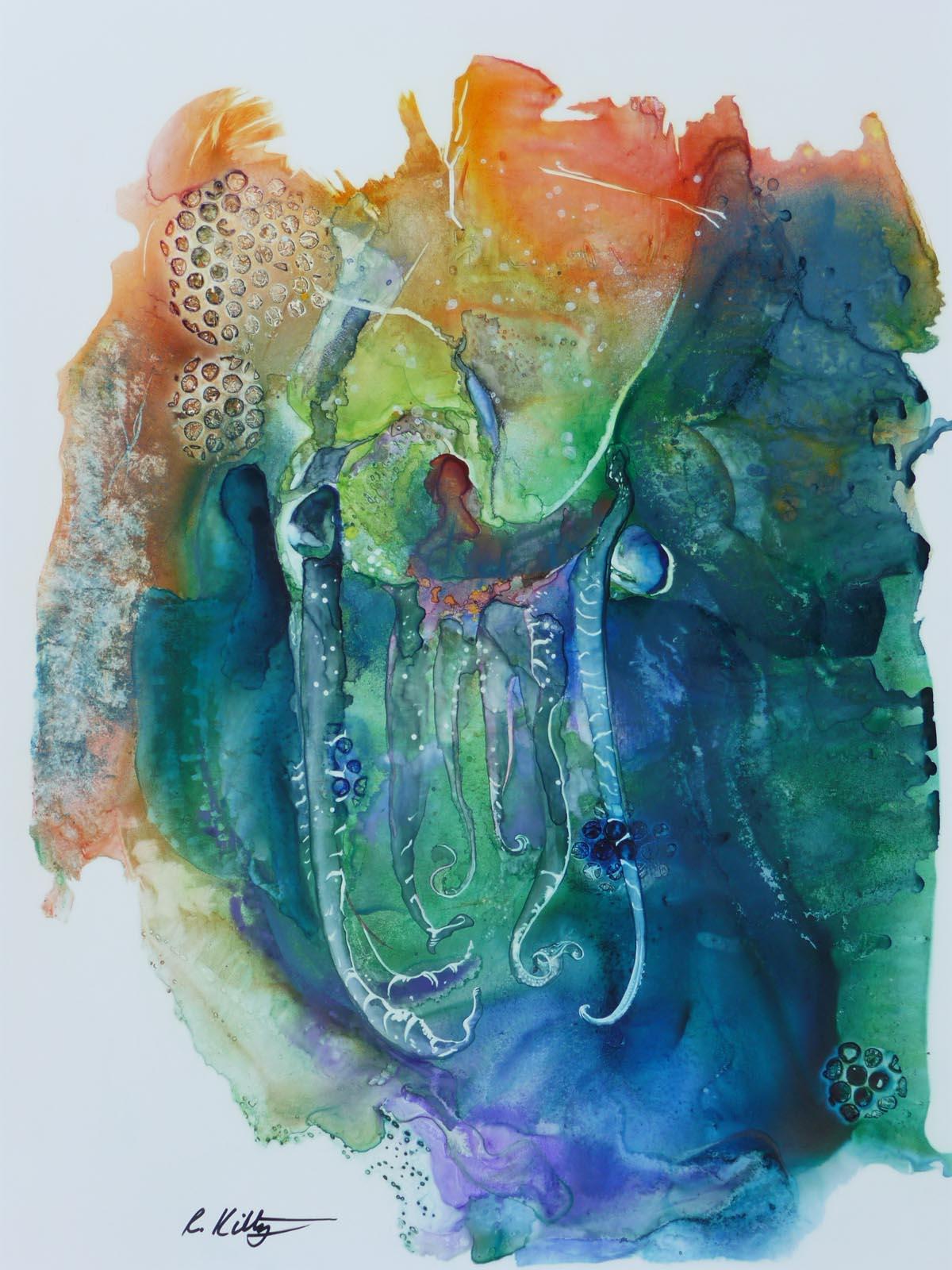 Cuttle Fish Moving Sideways | Bobbi Kilty | Fine Artist