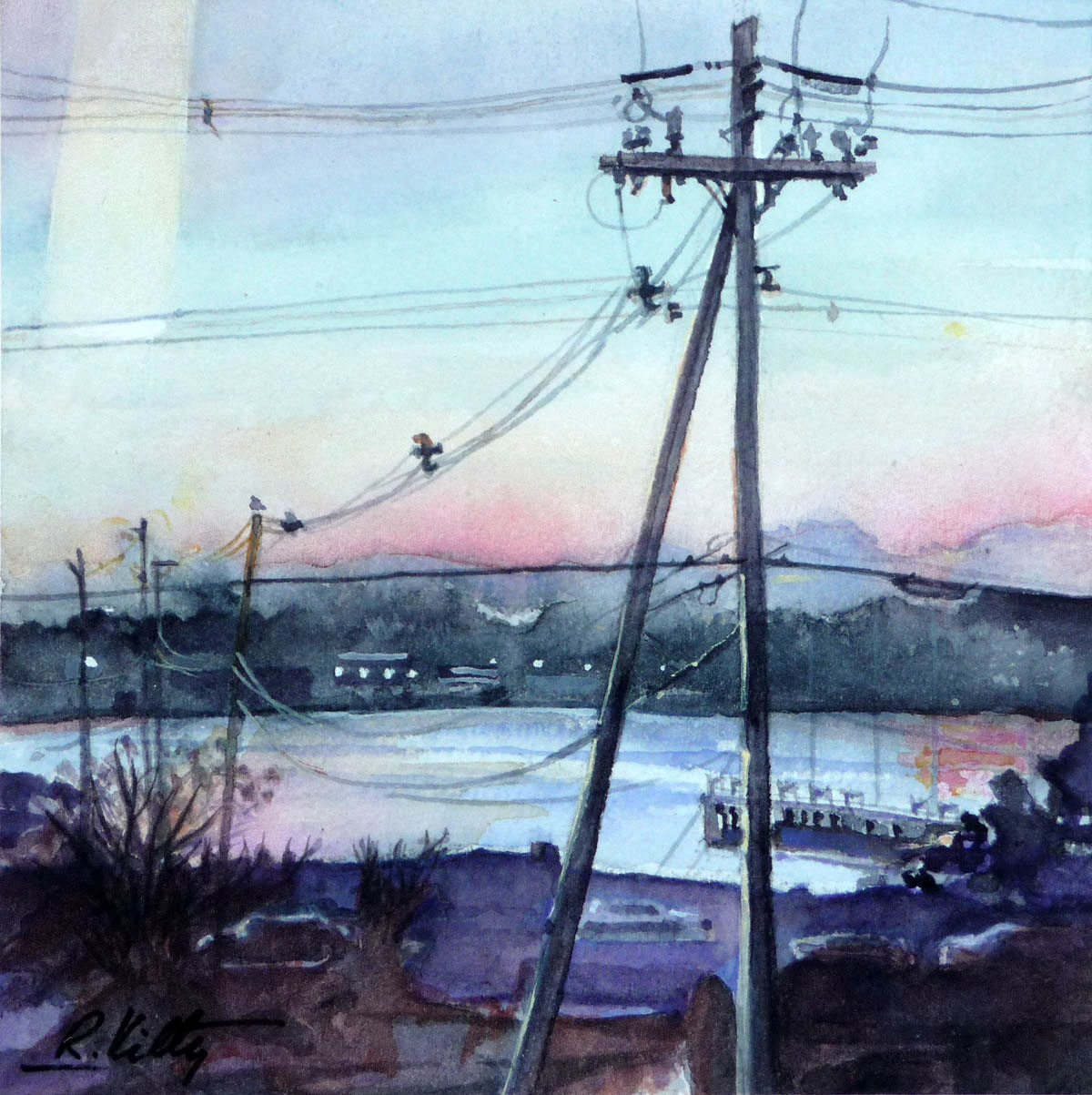 Harbor Lights of Portland, Maine | Bobbi Kilty | Fine Artist