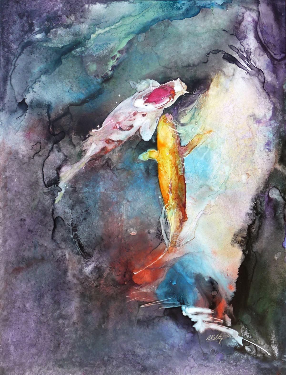Two Large Koi | Bobbi Kilty | Fine Artist