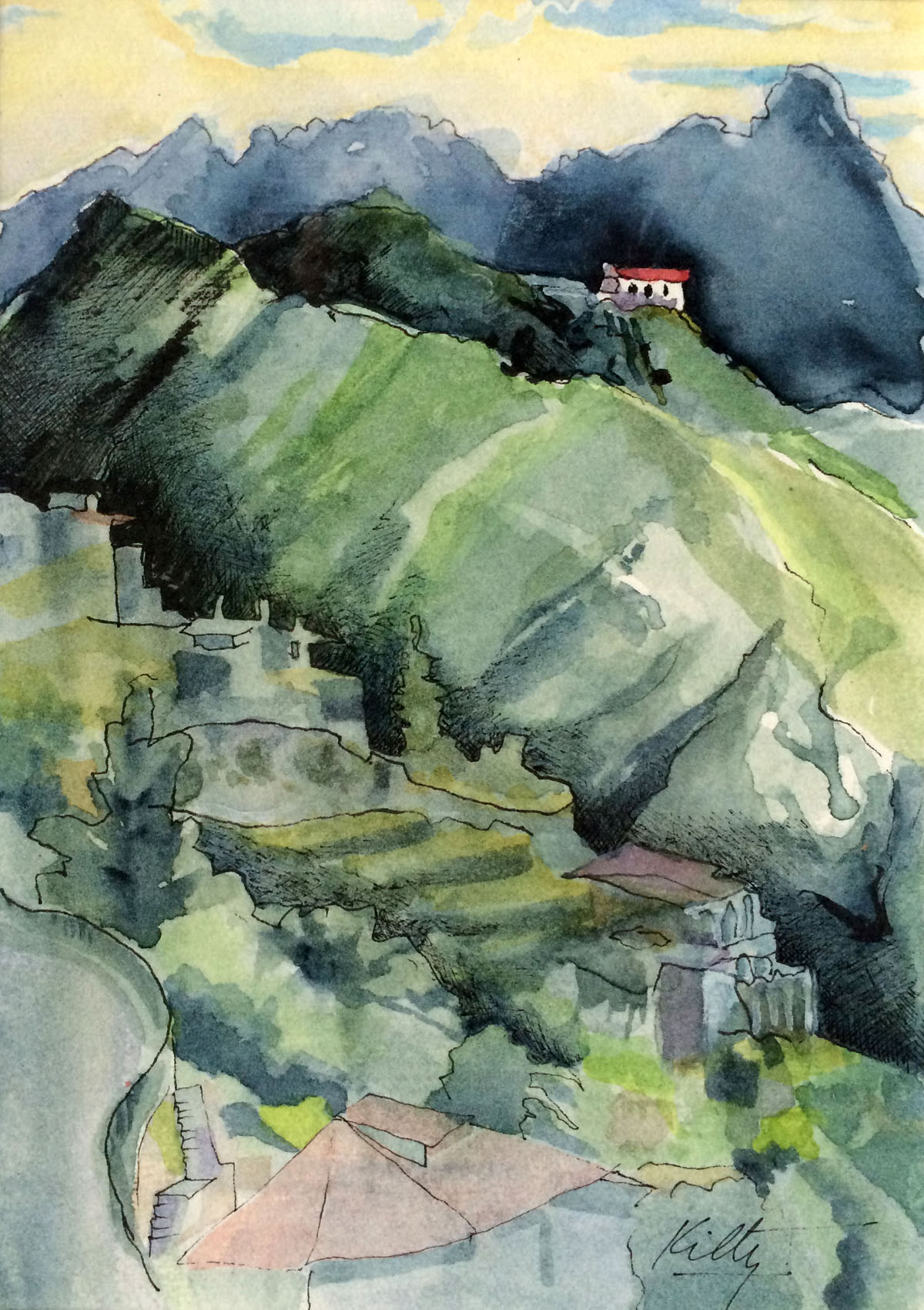 Red Roof, Ravello | Bobbi Kilty | Fine Artist