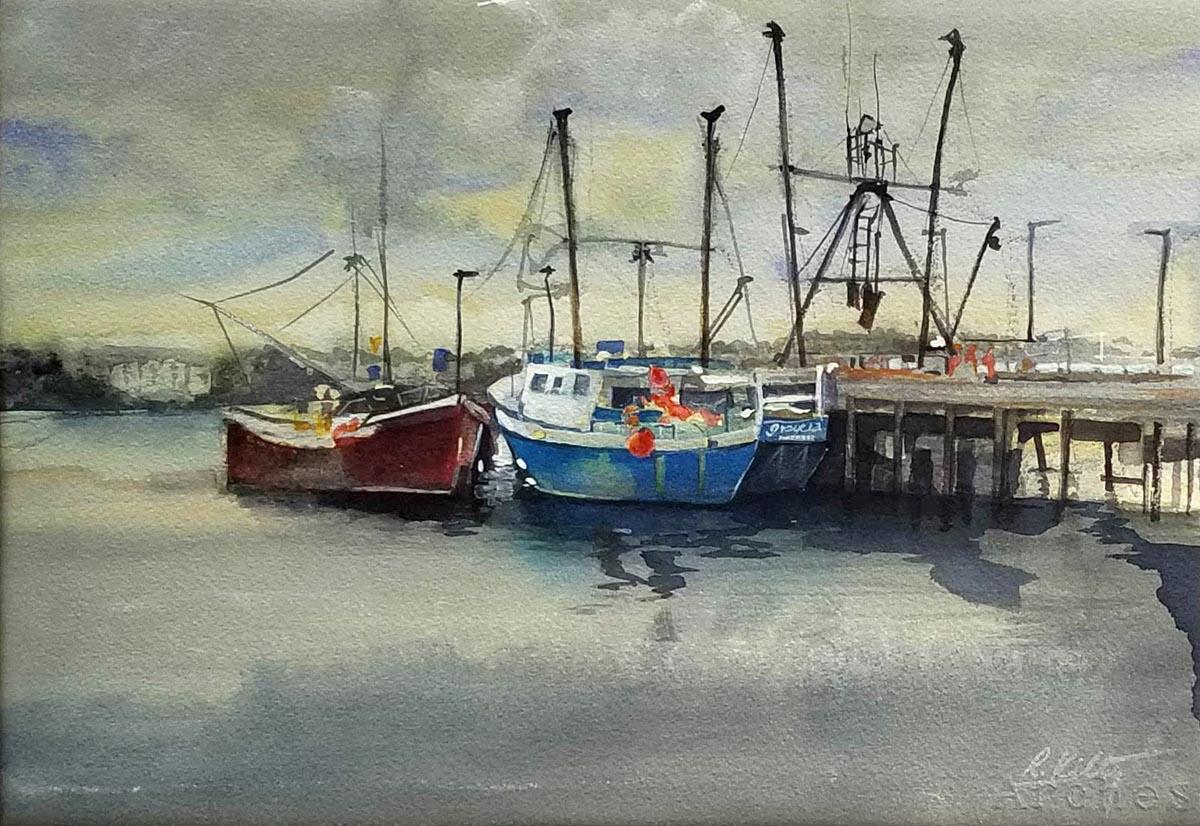 Portland Warf, Maine | Bobbi Kilty | Fine Artist